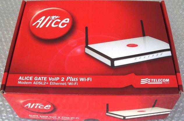 MODEM ROUTER ADSL ALICE GATE VOIP 2 PLUS WIFI