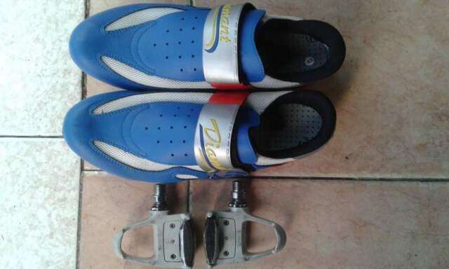 Pedali e scarpe bicicletta