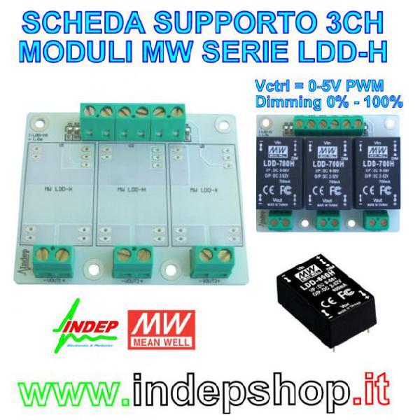 Scheda per moduli meanwell ldd-h