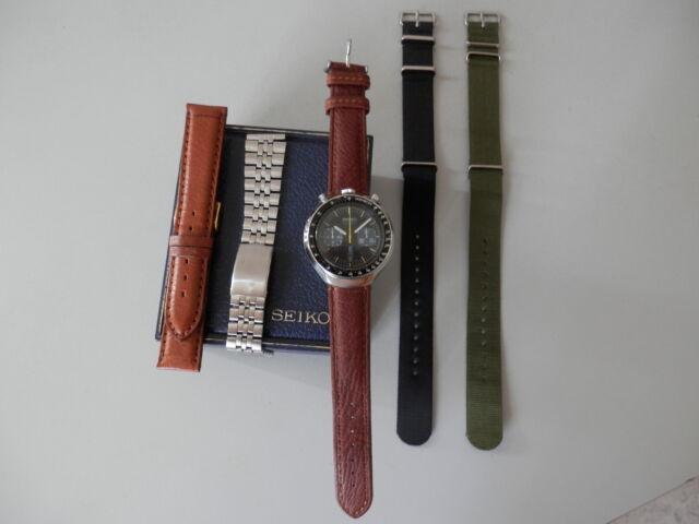 """Seiko """"bullhead"""" orologio cronografo anni '70."""