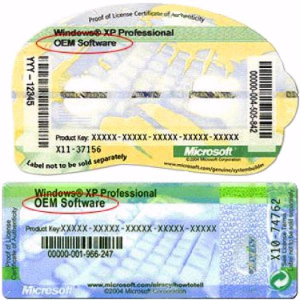 Windows xp o vista etichetta coa originale euro 9