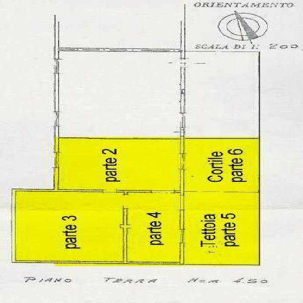 Affitto capannone vr sud bauli mq200 eu600 1°anno (leggi