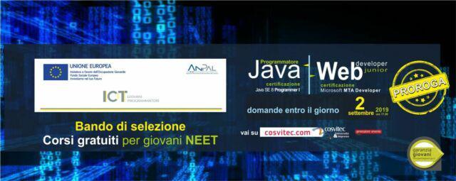 Corso programmatore java e web developer junior