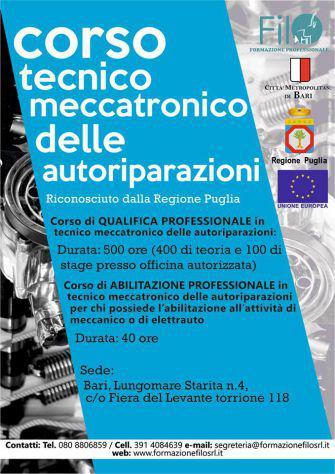 Corso per Tecnico meccatronico delle autoriparazioni
