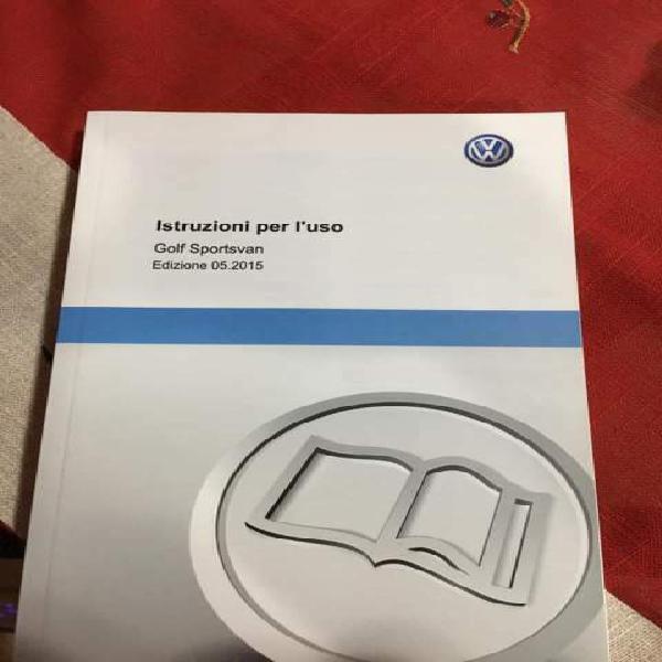 Libretto uso e manutenzione vw golf sportvan