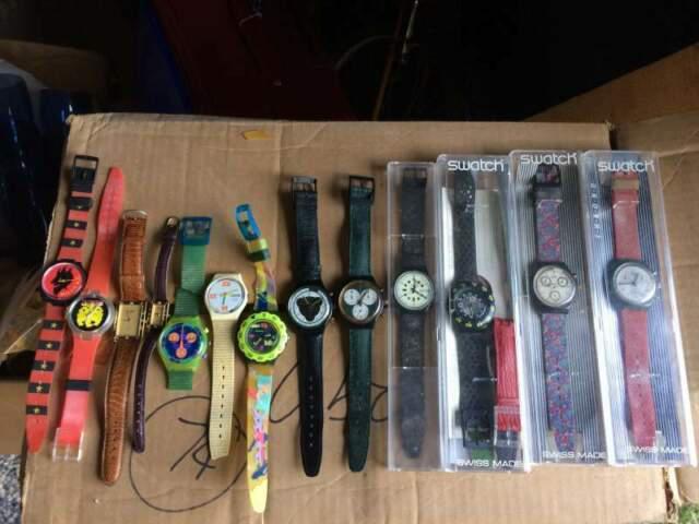 Orologi swatch serie 10 pezzi alcuni usati alcuni nuovi