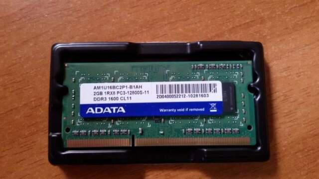 Ram sodimm 2gb 1600 mhz ddr3 per laptop
