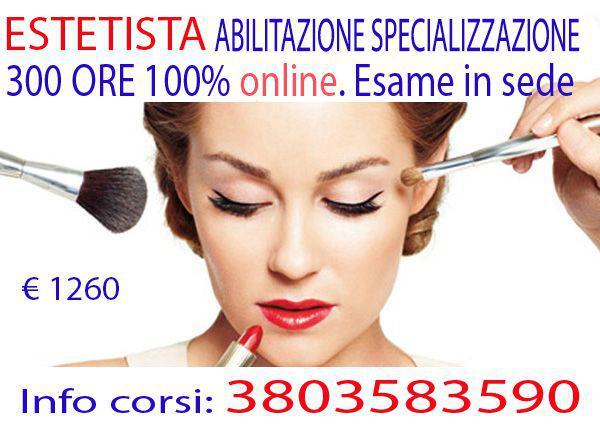 Corso di specializzazione abilitazione estetista online