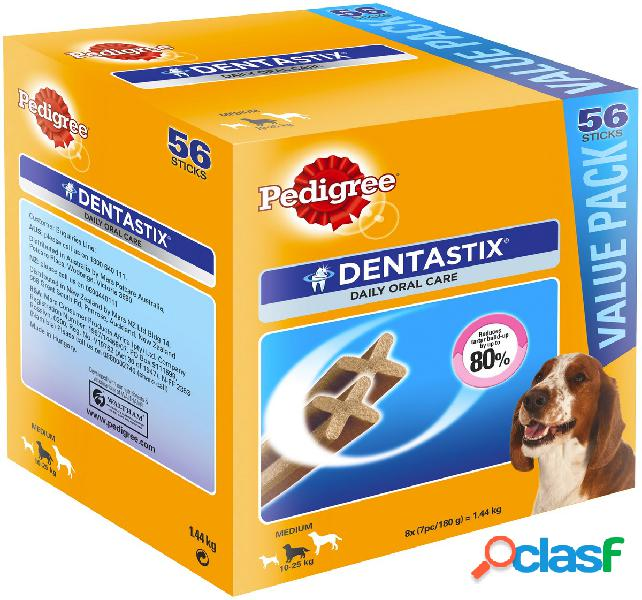 Pedigree dentastix scorta 56 pz medium 10-25