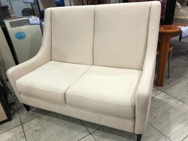 Divano poltrone sofa' bianco 130 cm