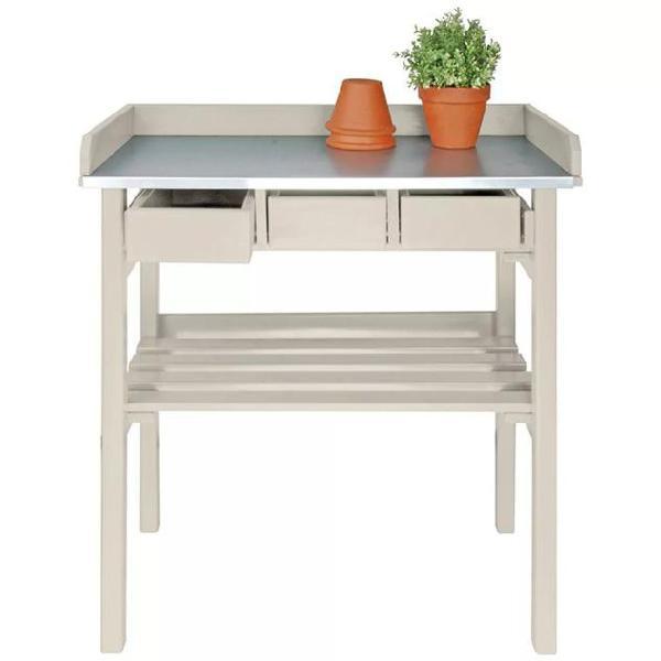 Esschert design cf29w tavolo da lavoro da lavoro da esterno