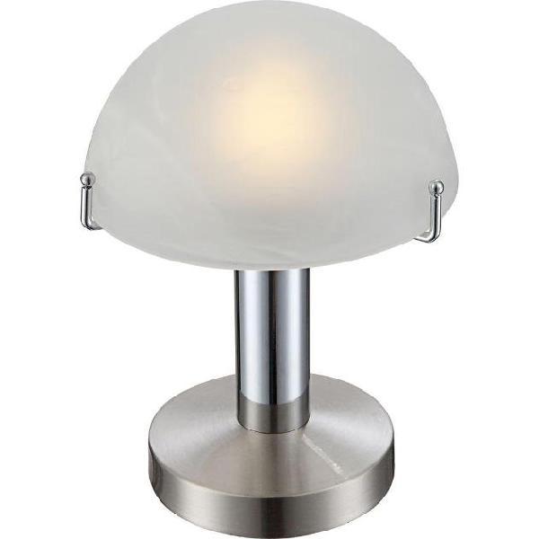 Globo lampada da scrivania a led otti in vetro cromato 21934