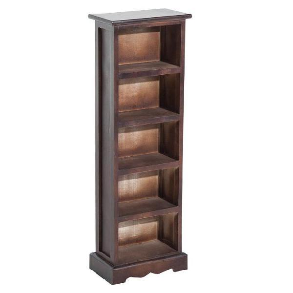 Libreria 5 ripiani in legno marrone 30x17x90 cm benzoni