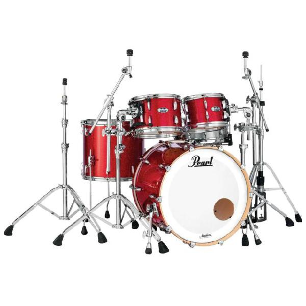 Pearl masters maple complete mct 924 xep inferno red sparkle
