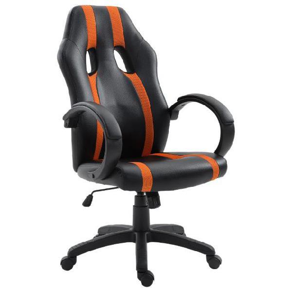 Sedia da gaming ergonomica imbottita con altezza regolabile