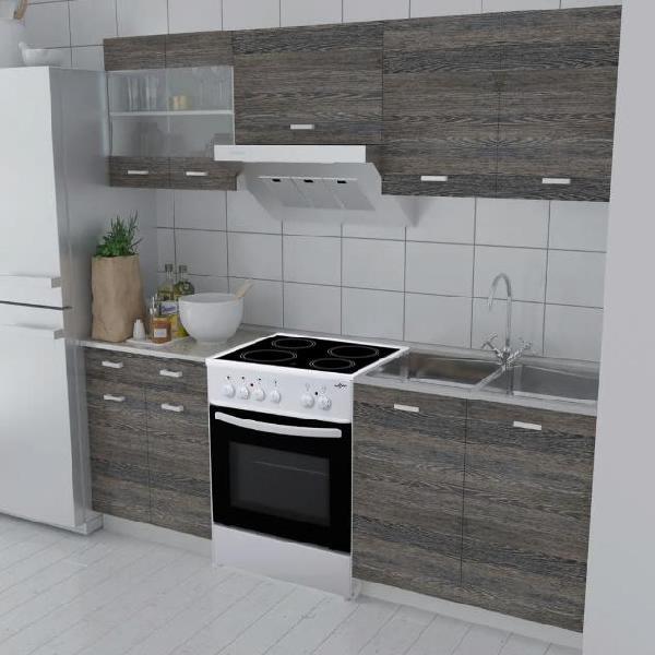 Vidaxl armadi cucina set 5 pz con forno autoportante wenge