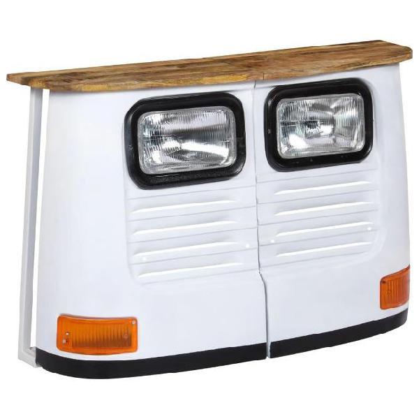 Vidaxl credenza camion in legno massello di mango bianco