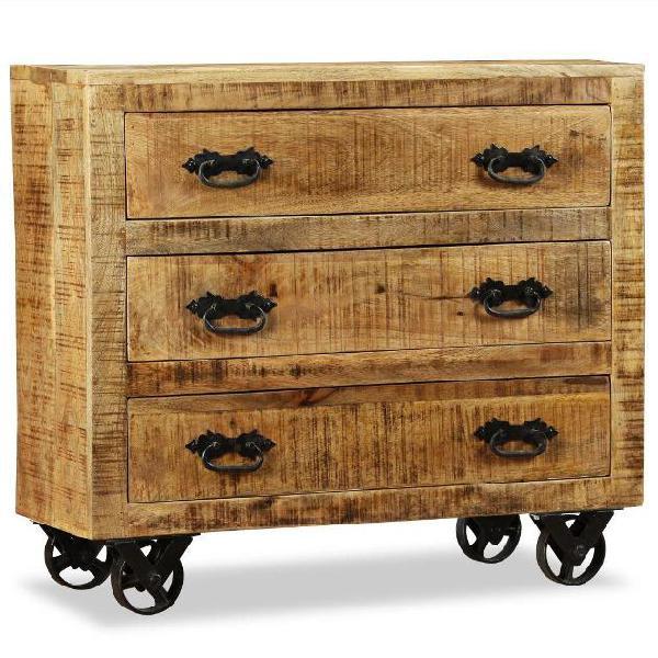 Bare in legno da comodino armadietto con due cassetti di apertura Casa delle Bambole in Miniatura
