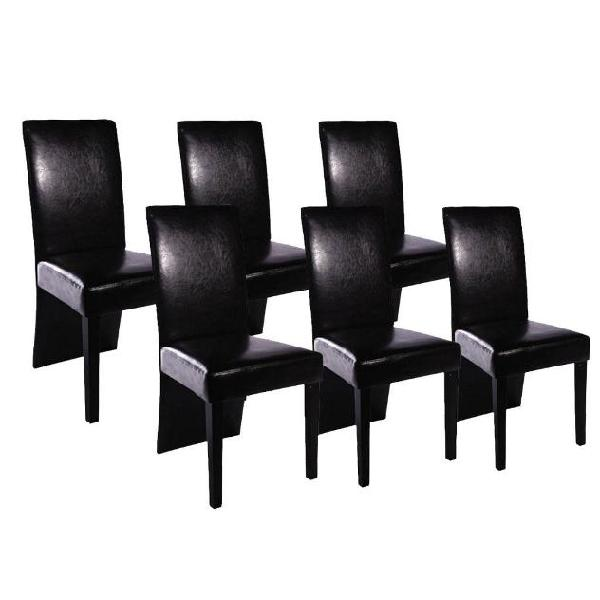 Vidaxl set sedie sala da pranzo 6 pz in pelle artificiale