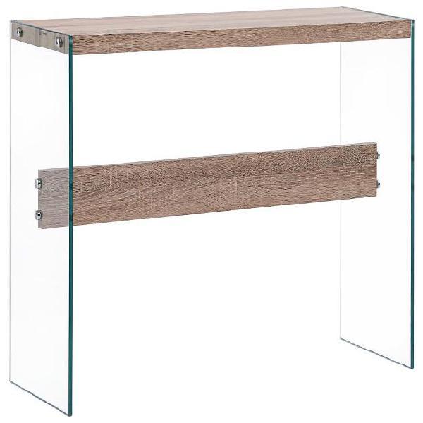Vidaxl tavolo consolle rovere 82x29x75,5 cm in mdf