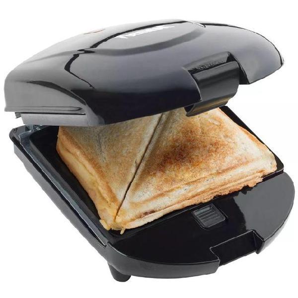Bestron 3-in-1 tostapane macchina cialde e panini 520w nero
