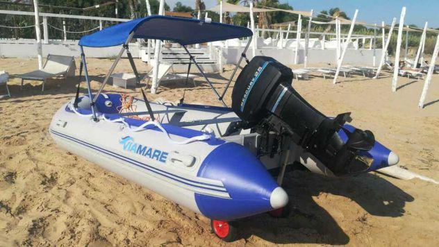 Gommone nuovo + motore25cv mercury + parasole + ruote