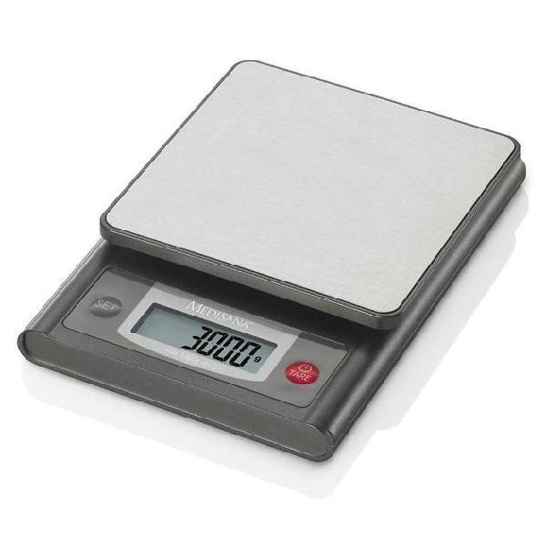 Medisana bilancia digitale da cucina ks 200 in acciaio inox