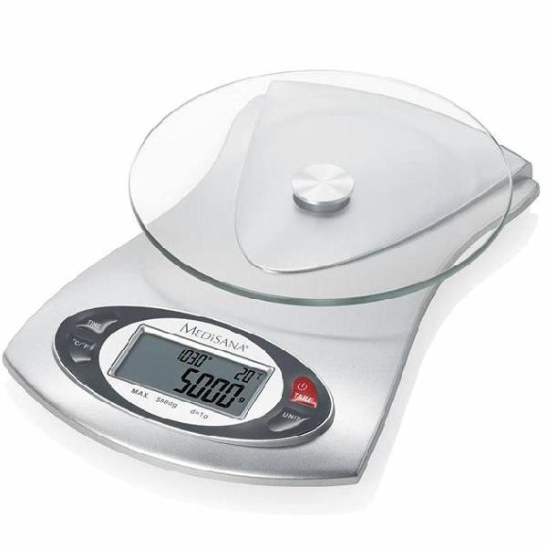 Medisana bilancia digitale da cucina ks 220 vetro 5 kg 40467