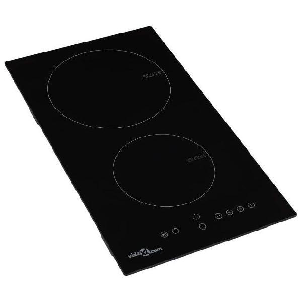 Vidaxl piano cottura a induzione 2 zone e controlli touch