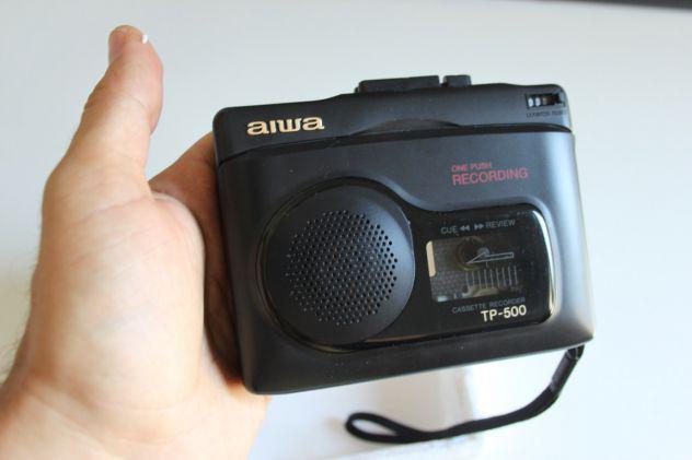 Aiwa tp-500 audio cassette recorder registratore dittafono