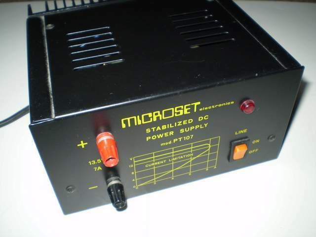 Alimentatore stabilizzato microset pt 107 13,8v/7a as new