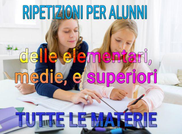 Ripetizioni alunni element, medie e superiori (tutte le