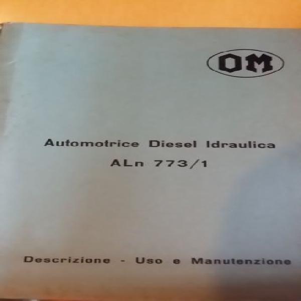 Automotrice om diesel automatica773/1 treno d'epoca uso