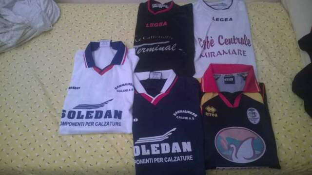 T shirt Calcio club Tedeschi, Svizzeri. Nike, Lotto, Diadora