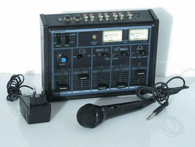 Mixer audio 6 canali per karaoke + microfono goldsound