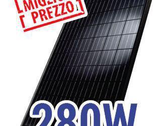 Pannello fotovoltaico 280w mono kit completo