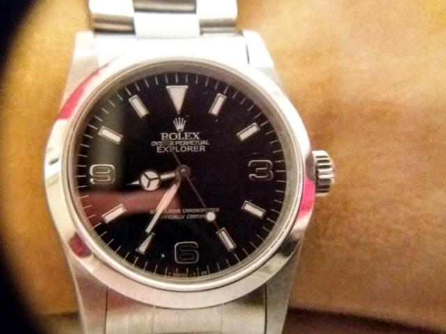 Rolex explorer i 14270 blackout 1991raro