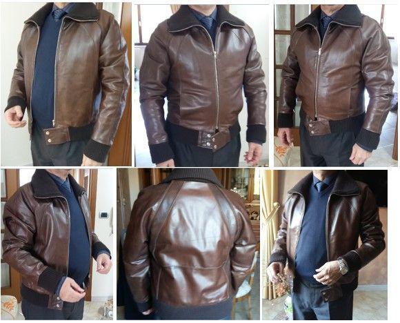 giacche pelle uomo vintage usato