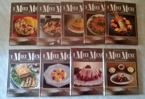 Stock di 9 libri: i miei menu selezione dal reader's digest
