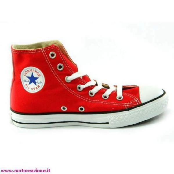 2all star converse rosse bambino