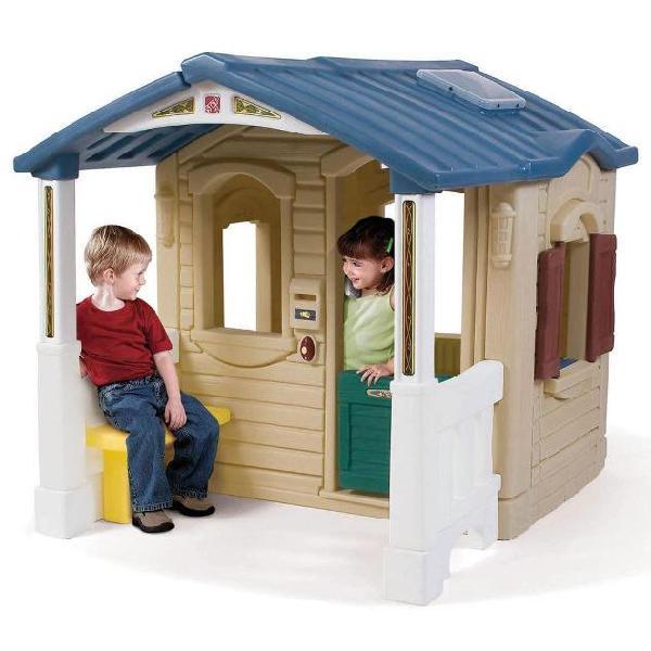 Step2 casetta bambini con portico frontale in plastica