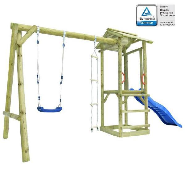 Vidaxl set gioco con scaletta scivolo altalena 400x150x220cm