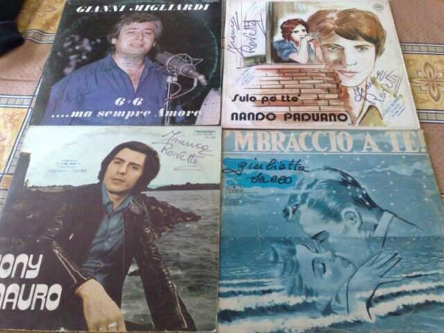 4 dischi di musica napoletana anni 80