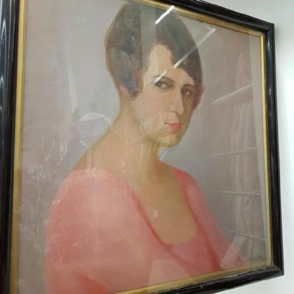 Dipinto ritratto firma veneziani