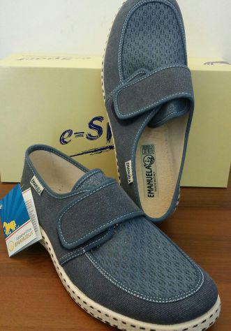 Emanuela scarpe da uomo n.42 blu velcro nuove