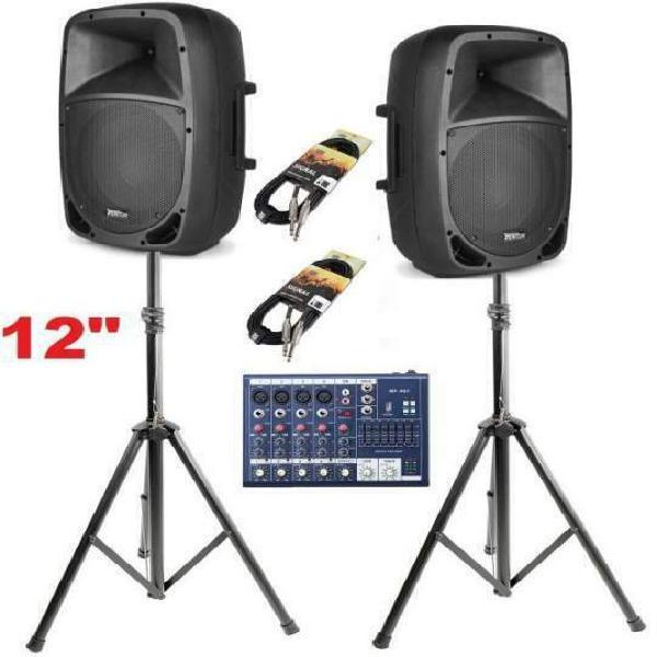 Impianto audio sistema attivo completo 1000w