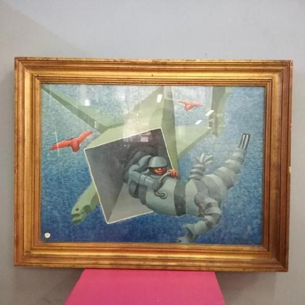 Mario del vecchio dipinto olio su tela 50x70 galleria d'arte