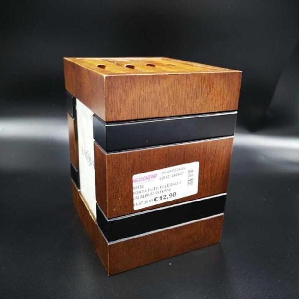 Porta foto in legno con album interni