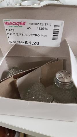 Sale e pepe vetro mini