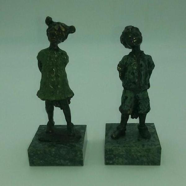 Statuina coppia in bronzo atrihove
